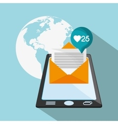 Smartphone and envelope of mail concept vector image