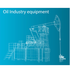3d of oil pump vector image
