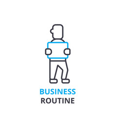 business routine concept outline icon linear vector image