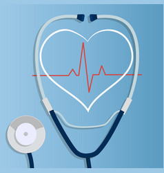 realistic stethoscope vector image vector image