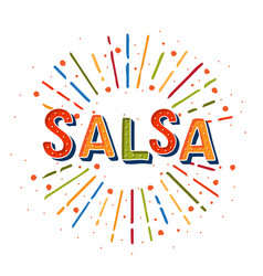 salsa logotype coloflul sunshine elements poster vector image