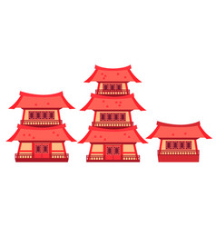set of china vector image