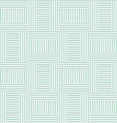 White 3D with colors green striped T shapes vector image vector image