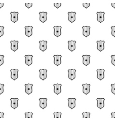 Wooden shield pattern simple style vector image