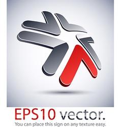 3D modern star logo icon vector