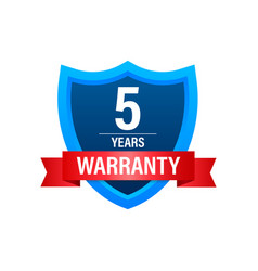5 years warranty support service icon vector