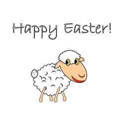 A funny cartoon Easter sheep vector image