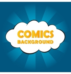 Abstract blue comics background vector