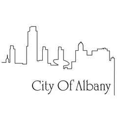 albany city one line drawing vector image