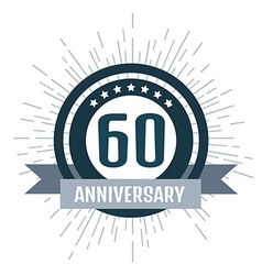 Anniversary logo 60th Anniversary 60 vector