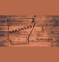 Arkansas map brand vector