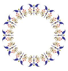 artistic colorful garnished circle shape vector image