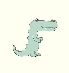 Baby croc cartoon vector