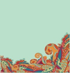 background with fabulous elements vector image