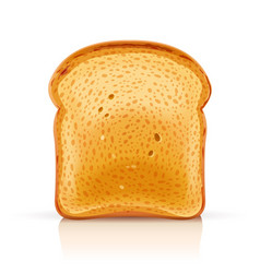 Bread toast for sandwich piece vector
