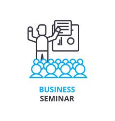 Business seminar concept outline icon linear vector