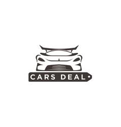 cars deal logo design inspiration vector image