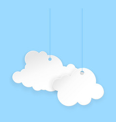cartoon paper clouds vector image