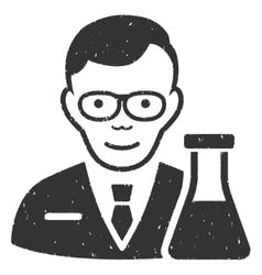 Chemist Grainy Texture Icon vector