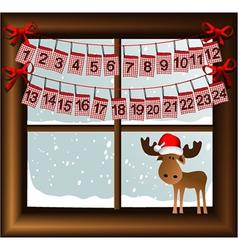 Christmas calendar vector