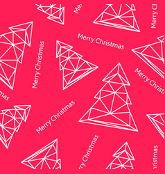 christmas tree triangle shape seamless pattern vector image