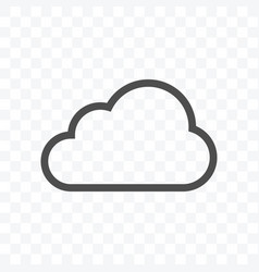 cloud data icon isolated on transparent background vector image
