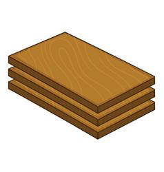 construction wood icon cartoon style vector image