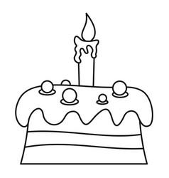 Cream cake icon outline style vector