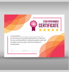Creative framed pink and white certificate vector