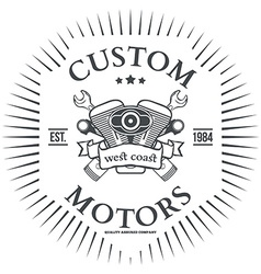 Custom motor t-shirt print design vector image