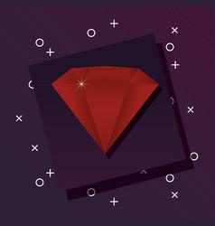 diamond gem icon vector image
