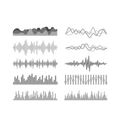 Different sound waves set vector
