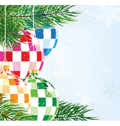 Disco balls Christmas ornaments vector