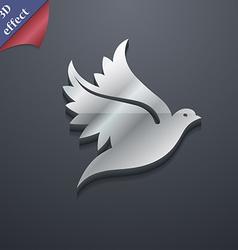 Dove icon symbol 3D style Trendy modern design vector image