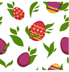 Easter paschal eggs seamless pattern vector