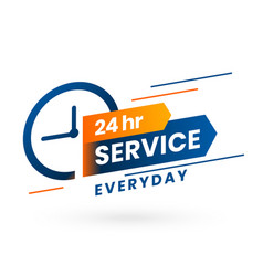 Everyday 24 hours service banner concept design vector