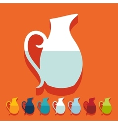Flat design jug vector image