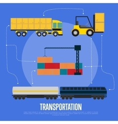 Global transportation and logistics banner vector image