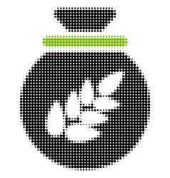grain harvest sack halftone icon vector image
