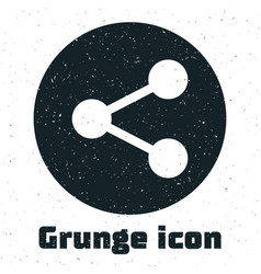Grunge share icon isolated on white background vector