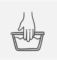 handwash hand drawn sketch icon vector image