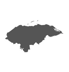 honduras map black icon on white background vector image