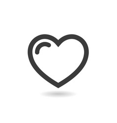 icon heart isolated on white background vector image