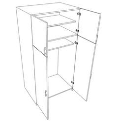 Image open cabinet vector
