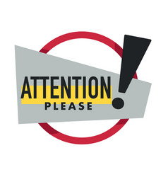 important message attention please isolated icon vector image