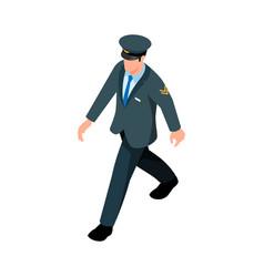 Isometric pilot icon vector