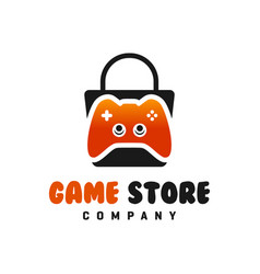 joystick seller shop logo vector image