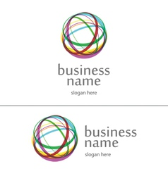 Logo ball of yarn vector