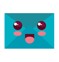mail envelope kawaii character vector image