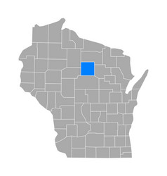 map lincoln in wisconsin vector image